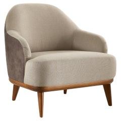 Walnut Wood Bicolor Antonella Armchair