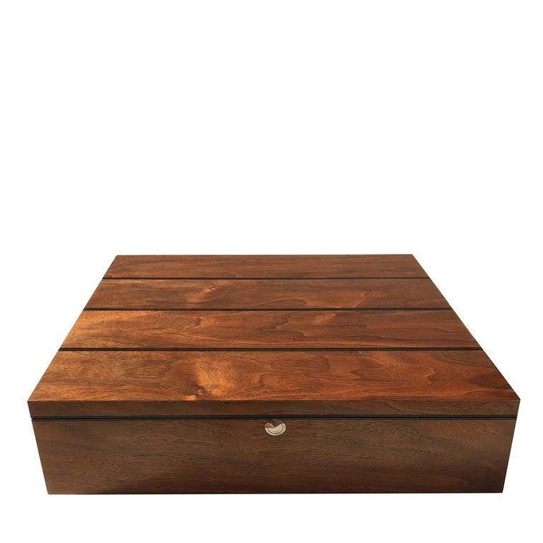 Italian Walnut Wood Box For Sale