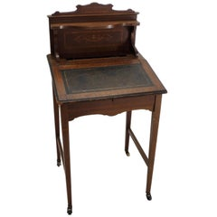 Walnut Writing Desk with Lift Top, Victorian