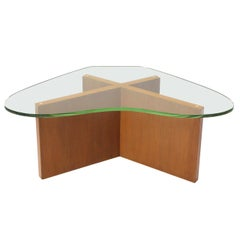 Walnut X-Base Low Table