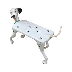"Walt Disney 'After' Child's Desk ""Dalmatian"" in White and Black Plastic"