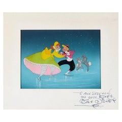 Walt Disney Vintage Signed Color Animation Cel from 1940s