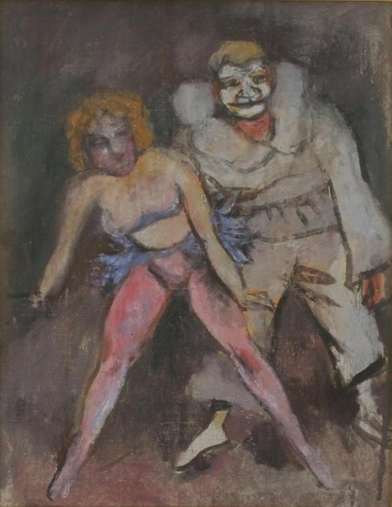 """Clown and Showgirl"" Walt Kuhn Circus - Painting by Walt Kuhn"