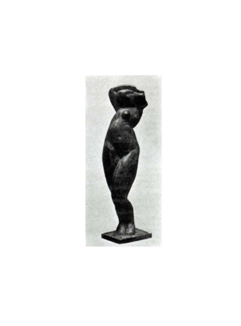 Standing Female Nude After Alexander Archipenko Negress (La Negresse) - Brown Nude Sculpture by Walt Kuhn