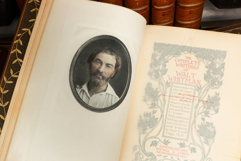 """Walt Whitman, the Complete Writings """"Author's Autograph Edition"""" In Good Condition For Sale In New York, NY"""