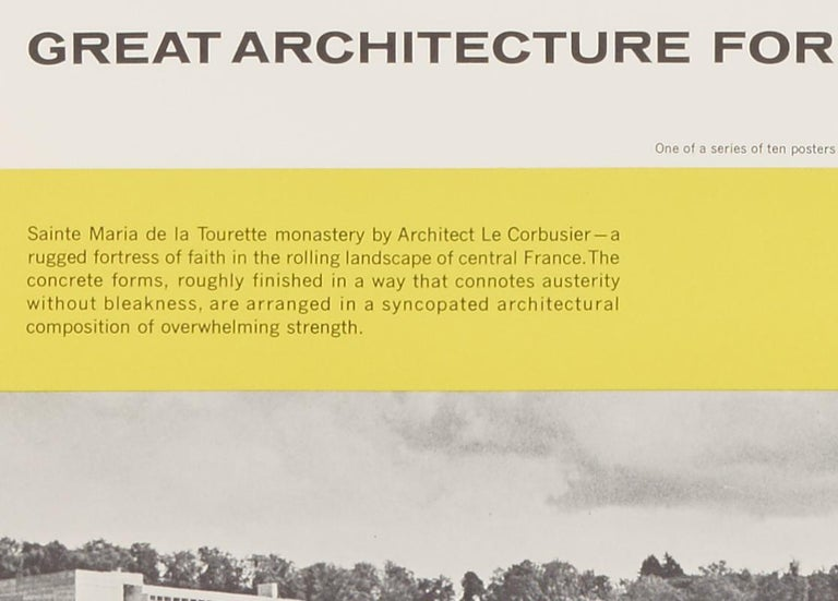 Great Architecture for the Sixties –La Tourette by Le Corbusier - Print by Walter Allner