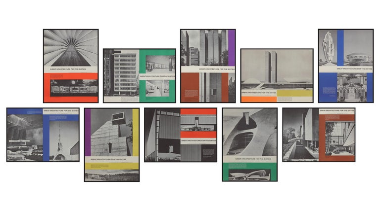 Great Architecture for the Sixties –La Tourette by Le Corbusier - Beige Print by Walter Allner