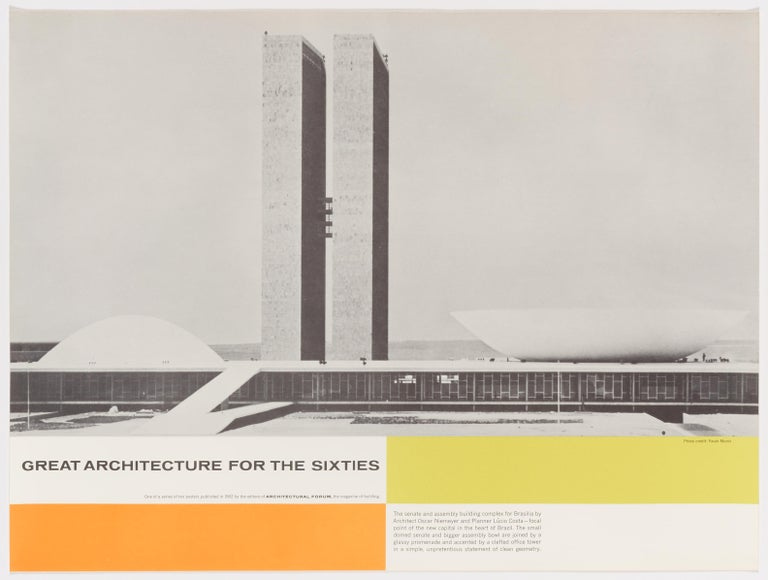 Walter Allner Print - Great Architecture for the Sixties –Oscar Niemeyer's complex in Brasilia