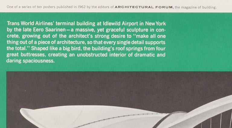 Great Architecture for the Sixties –TWAs Terminal Building by Eero Saarinen - Modern Print by Walter Allner