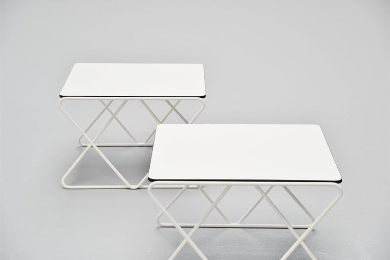 Walter Antonis Side Tables for I-Form Holland, 1978 In Good Condition For Sale In Roosendaal, Noord Brabant