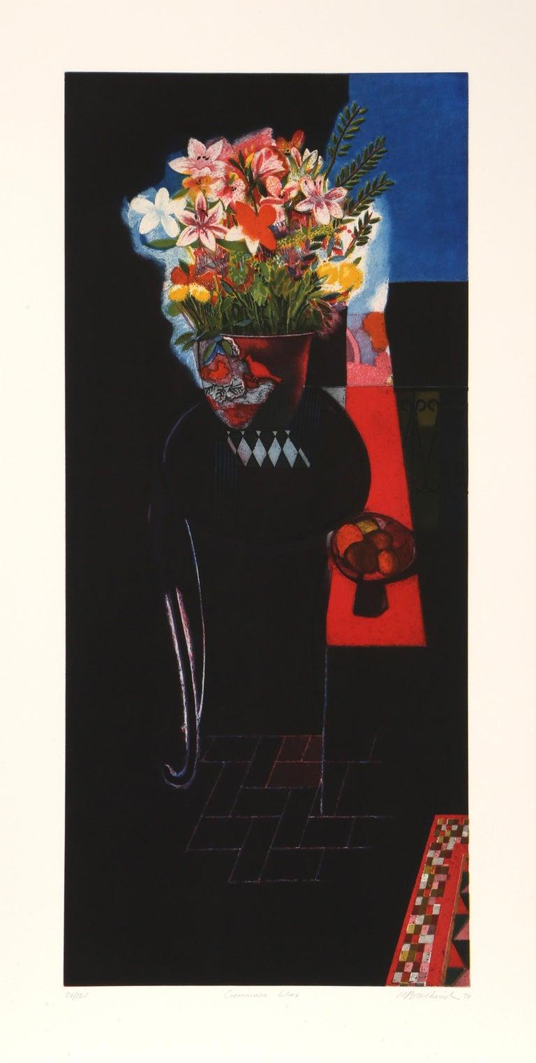 Walter Bachinski Interior Print - Cuernavaca Lillies
