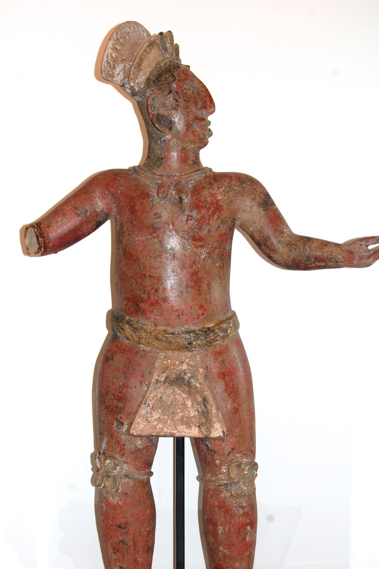 Large Mayan Clay Sculpture For Sale 1