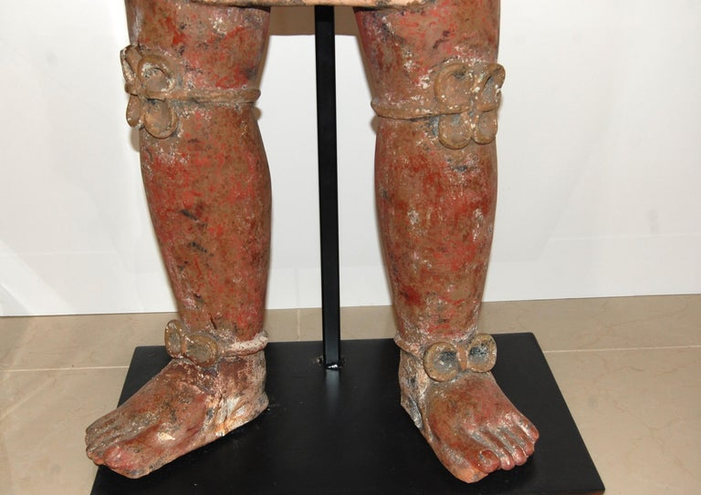 Large Mayan Clay Sculpture For Sale 2