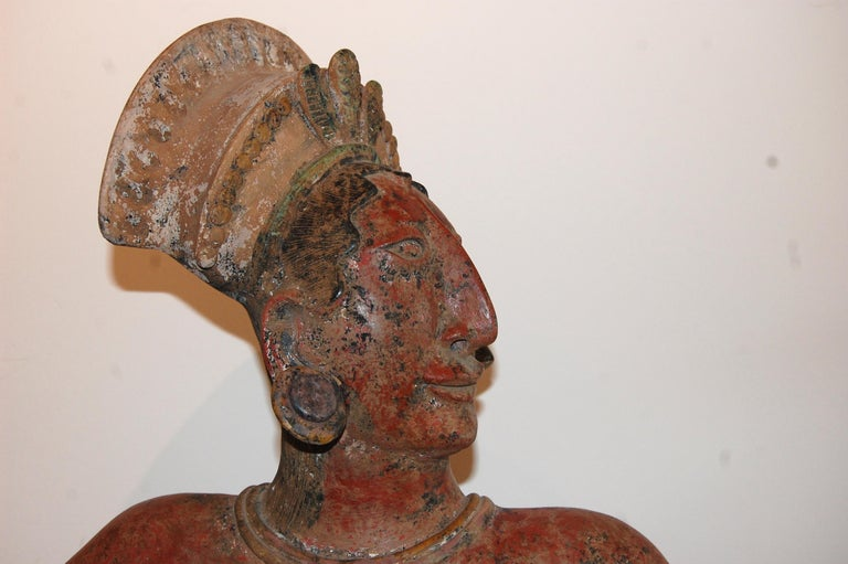 Large Mayan Clay Sculpture For Sale 3