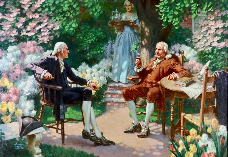 Walter Beach Humphrey Figurative Painting - George Washington & Ben Franklin