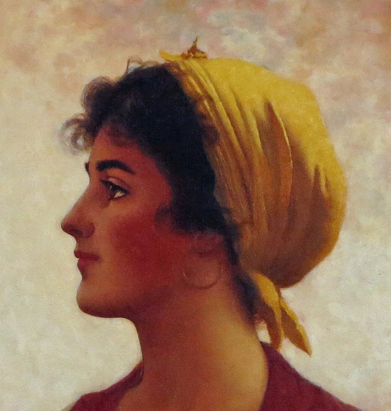 Young Beauty - American Impressionist Painting by Walter Blackman