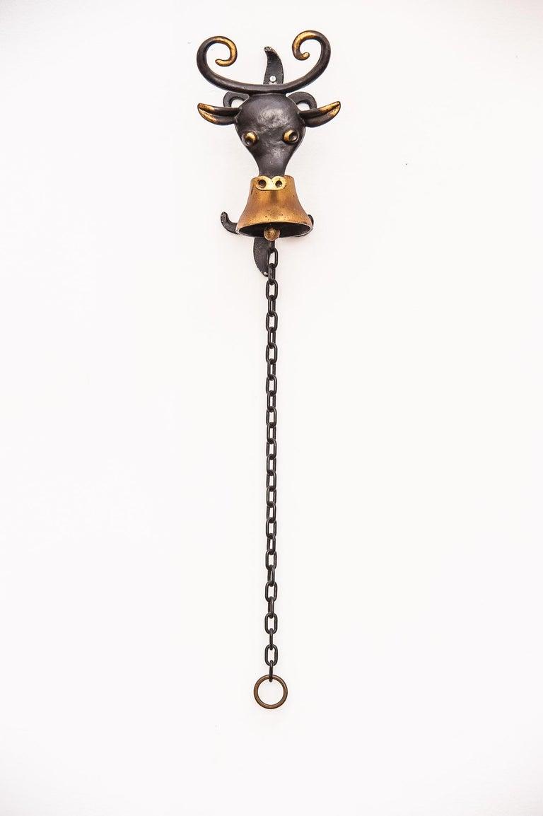 Mid-Century Modern Walter Bosse Big Wall Bell Cow Figurine by Hertha Baller, Austria, 1950s For Sale