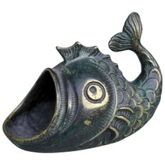 Walter Bosse Brass Decorative Fish, Jewelry or Ring Holder, 1950s