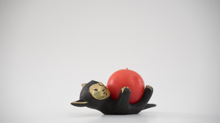 Walter Bosse Candleholder 'cat' 'Marked' For Sale 3