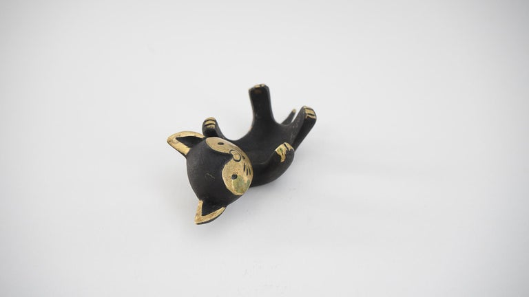 Mid-Century Modern Walter Bosse Candleholder 'cat' 'Marked' For Sale