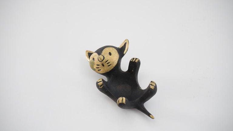 Blackened Walter Bosse Candleholder 'cat' 'Marked' For Sale