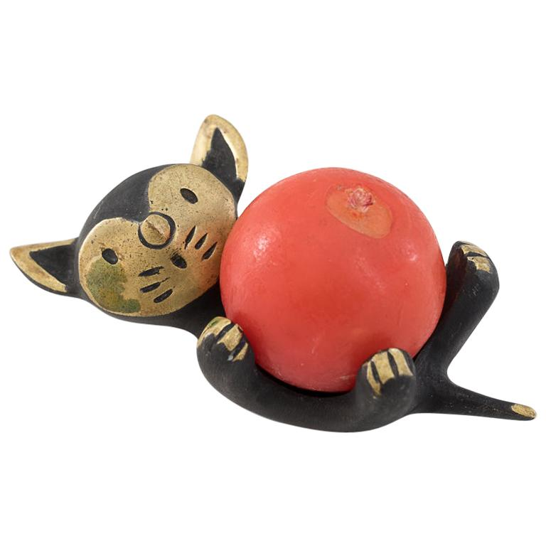 Walter Bosse Candleholder 'cat' 'Marked' For Sale