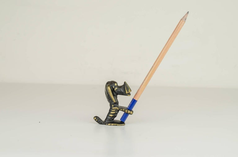 Mid-20th Century Walter Bosse Dog Pencil Holder For Sale