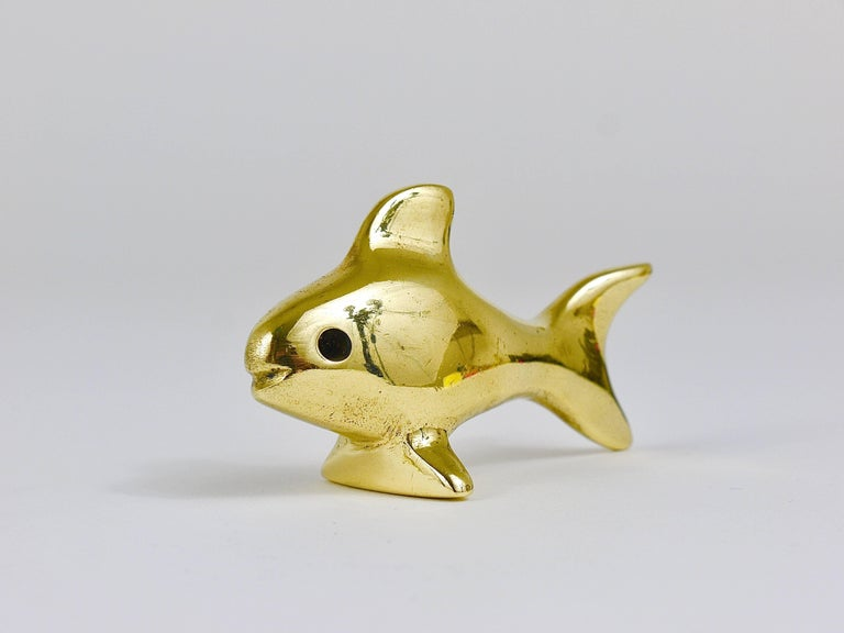 Walter Bosse Midcentury Fish Brass Figurine, Hertha Baller, Austria, 1950s For Sale 3