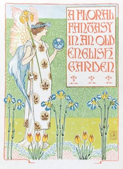 A Floral Fantasy in an Old English Garden by Walter Crane, 1899 Lithograph