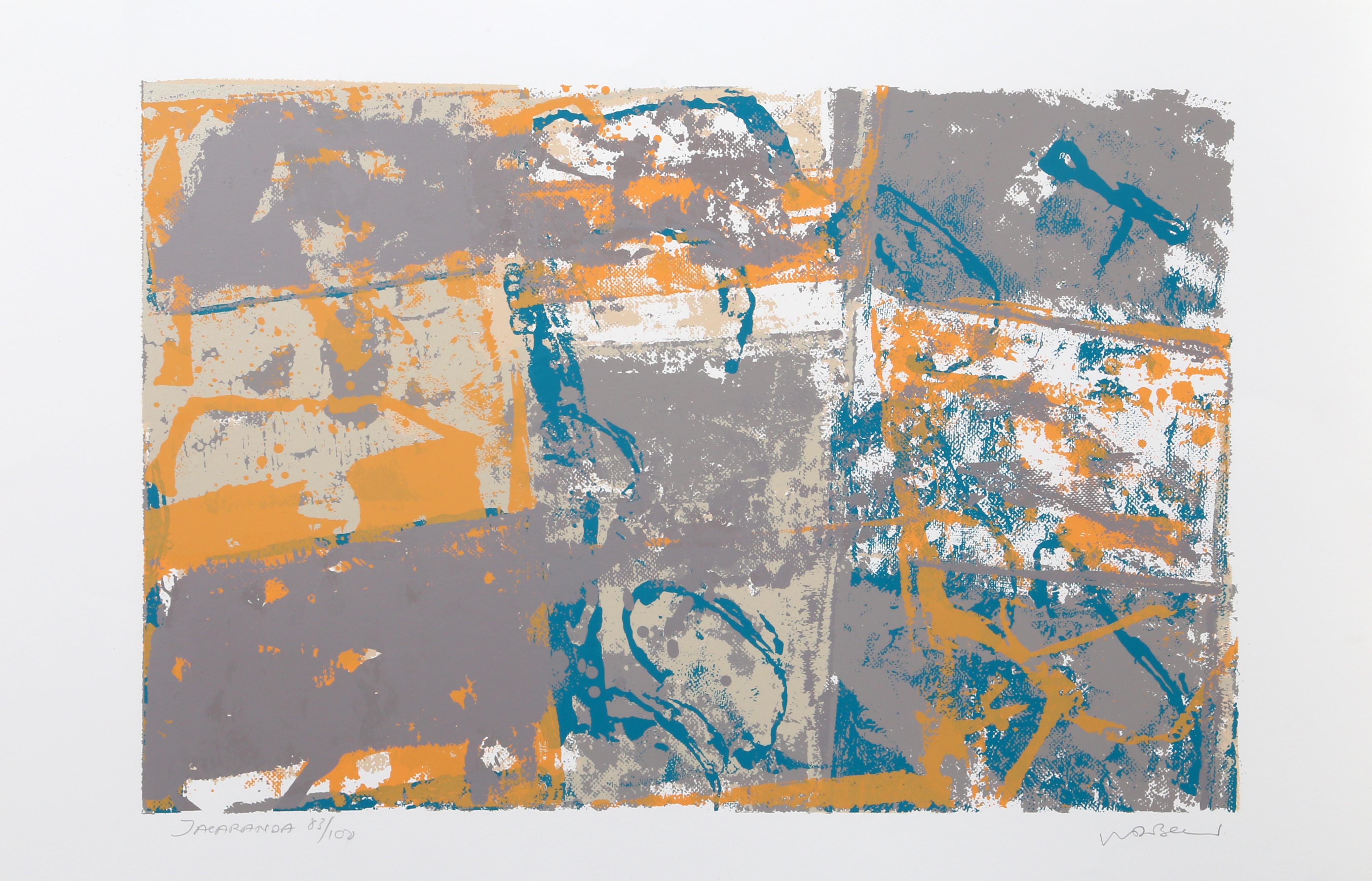 Jacaranda, Abstract Silkscreen by Walter Darby Bannard