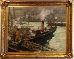 """The Steam Trawlers, Boulogne"""