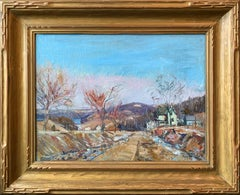Sellersville, Pennsylvania Impressionist Autumn Landscape, Bucks County Scene