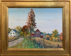 Walter Baum, Easton - Trumbauersville Road, Oil on Canvas, Signed