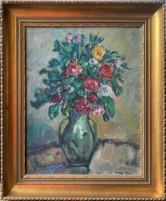 Walter Emerson Baum, Floral still Life, Oil on Canvas, Signed