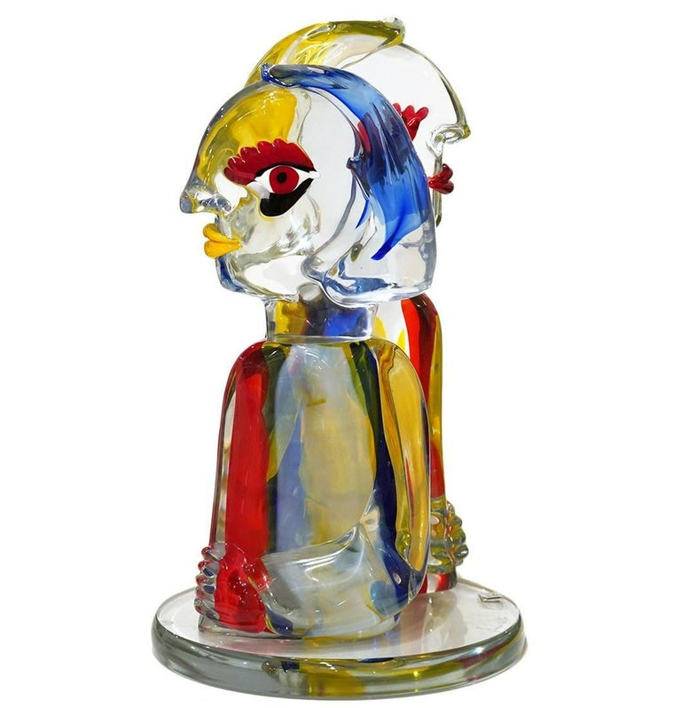 Walter Furlan Abstract Sculpture -  The Pair Homage to Picasso Glass Sculpture