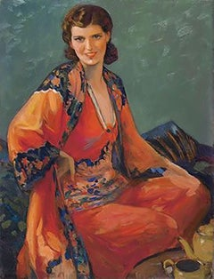 Woman Seated, Likely Magazine Cover
