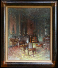 Interiour - Post Impressionist Oil, View of Living Room Interior by Walter Gay