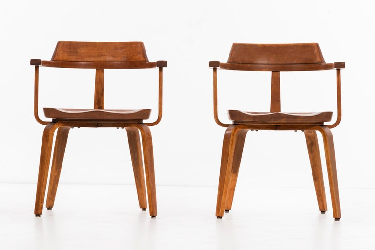 Set of eight Walter Gropius for Thonet armchairs model W199