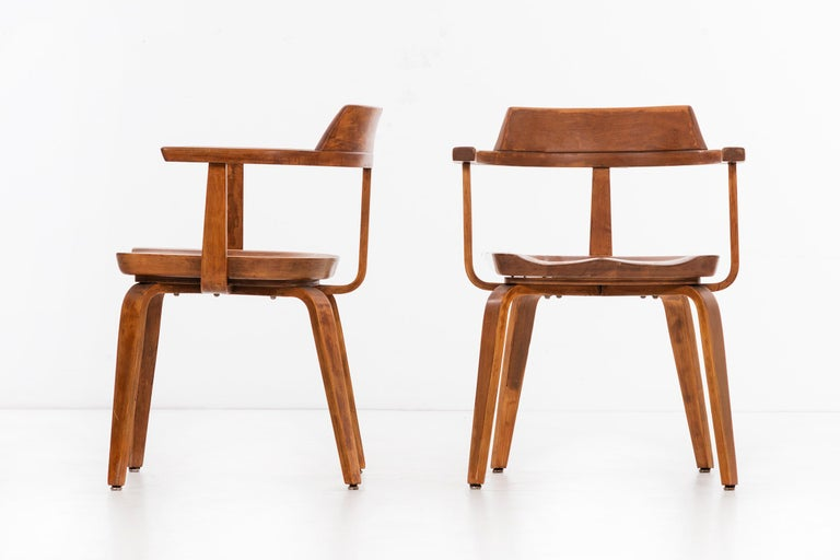 American Walter Gropius Set of Eight Armchairs For Sale