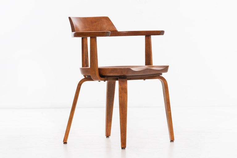 Birch Walter Gropius Set of Eight Armchairs For Sale