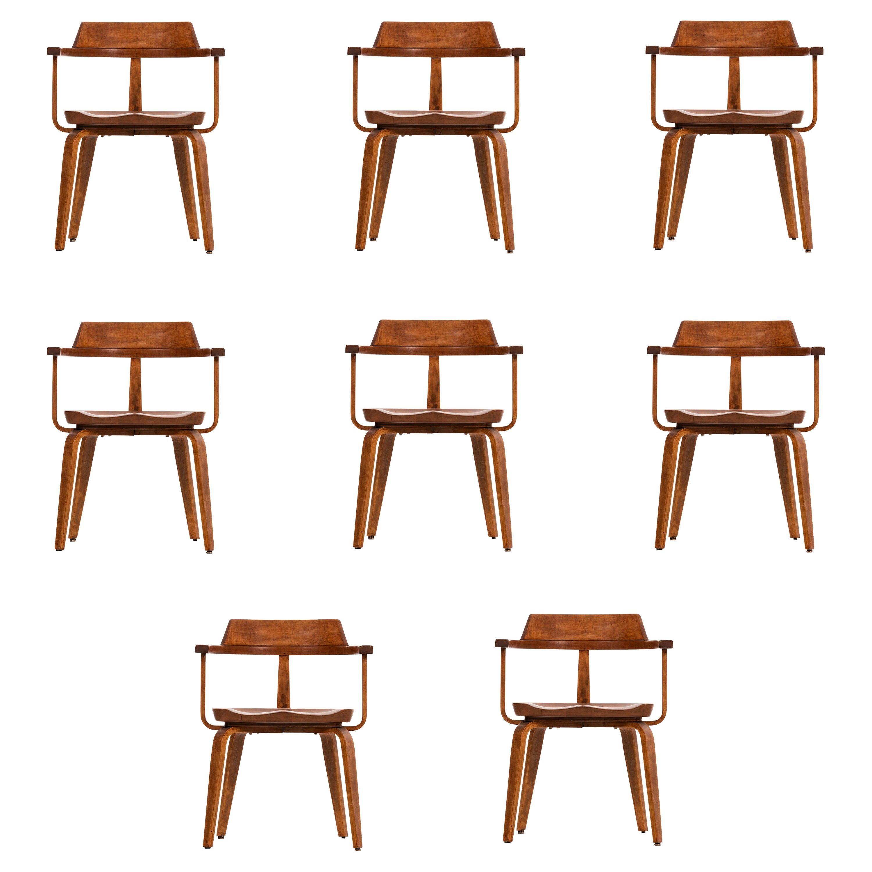 Walter Gropius Set of Eight Dining Armchairs