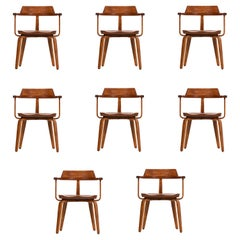 Walter Gropius Set of Eight Dining Armchairs