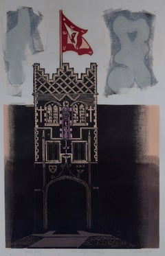 Walter Hoyle Jesus College Cambridge linocut print Modern British Art