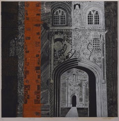 Walter Hoyle St John's College Cambridge linocut Modern British Art