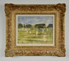 Parc Borely - 20th Century Impressionist landscape by Walter Beauvais