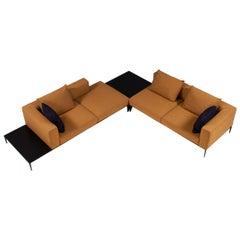 Walter Knoll by EOOS Jaan Living Corner Mustard Sofa