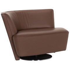 Walter Knoll Drift Leather Armchair Brown