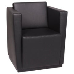 Walter Knoll Elton 406 Leather Armchair Black