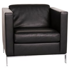 Walter Knoll Foster 500 Leather Armchair Black