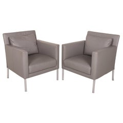 Walter Knoll Foster 500 Leather Armchair Set Gray Set